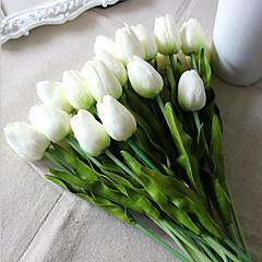billige Kunstige blomster-Kunstige blomster 8.0 Gren Bryllupsblomster Tulipaner Bordblomst