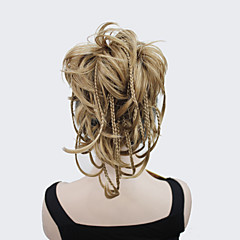 cheap Hair Pieces-new fashion light strawberry blond bendable wires short hairpiece tiny braids claw clip ponytail 0288a 19