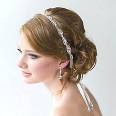 koko Crystal kukka käsintehtyjä nauha satiini sitoa sanka hääjuhlissa nainen hiukset korut