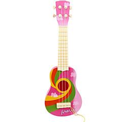 8 악기 장난감 이상 어린이를위한 플라스틱 핑크 시뮬레이션 아동 기타