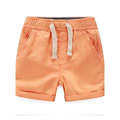 billige Drengebukser-Drenge Shorts Daglig Ensfarvet, Bomuld Forår Sommer Efterår Alle årstider Stribet Orange Beige Lys Grøn