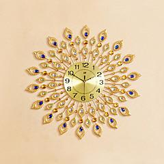 billige Veggklokker-Rund / Nyhet Moderne / Nutidig Wall Clock,Blomst / Botanikk / Dyr / Inspirerende / Cartoon Glass / Metall / Stein72cm x 72cm(28in x 28in