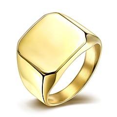 Herre Båndringe Mote Enkel Stil kostyme smykker Titanium Stål Gullbelagt Smykker Til Bryllup Fest Daglig Avslappet Julegaver