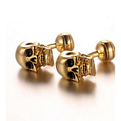 Men's Fashion Skull Style Gold Alloy French Shirt Cufflinks (1-Pair) Christmas Gifts