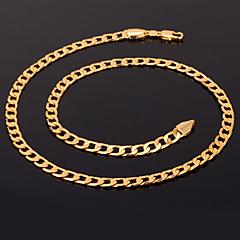 女性 チェーンネックレス ステートメントネックレス 円形 ゴールドメッキ ファッション コスチュームジュエリー ジュエリー 用途 結婚式 パーティー 誕生日 日常 カジュアル スポーツ クリスマスギフト