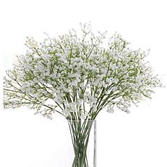 billige Kunstige blomster-Kunstige blomster 6 Gren Bryllupsblomster Brudeslør Bordblomst