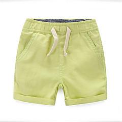 tanie Odzież dla chłopców-Szorty Bawełna Dla chłopców Codzienny Jendolity kolor Wiosna Lato Jesień Na każdy sezon Prążki Orange Beige Light Green