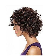 billiga Peruker och hårförlängning-Syntetiska peruker Afro / Kinky Curly Syntetiskt hår Afro-amerikansk peruk Peruk Dam Halloween Paryk / Karneval peruk