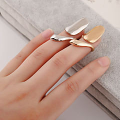 billige Motering-Dame Nail Finger Ring / Midi Ring - Sølvplett, Gullbelagt Personalisert, Europeisk, Mote 4 Sølv / Gylden Til Daglig / Avslappet