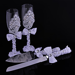 cheap Toasting Flutes-Lead-free Glass Toasting Flutes Gift Box Beach Theme Garden Theme Asian Theme Floral Theme Butterfly Theme Classic Theme Fairytale Theme
