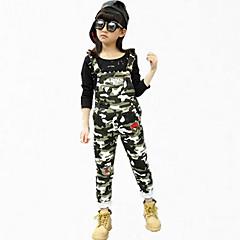 tanie Odzież dla dziewczynek-Dzieci Dla dziewczynek Kwiaty Impreza Nadruk Bawełna Spodnie