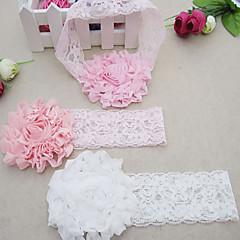 baratos Acessórios para Crianças-Para Meninas Acessórios de Cabelo Todas as Estações Tweed, Bandanas - Branco Rosa claro