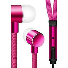 billiga Headsets och hörlurar-I öra Kabel Hörlurar Aluminum Alloy Mobiltelefon Hörlur Med volymkontroll headset