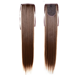 cheap Hair Pieces-22 inch Synthetic Hair Hair Extension Straight Classic Cross Type Daily High Quality