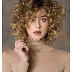 cheap Wigs & Hair Pieces-women s fashion gold blonde mix short curly synthetic wigs for women