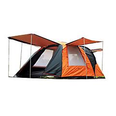 billige Telt og ly-Shamocamel® 4 personer Familie Camping Telt Dobbelt Lagdelt Automatisk Telt med flere rom camping Tent To Rom Utendørs Regn-sikker, Hold Varm, Anti-Insekt til Vandring / Camping 2000-3000 mm
