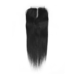 cheap Closure & Frontal-Brazilian Classic Straight U Part Swiss Lace Human Hair Free Part Middle Part 3 Part High Quality Daily