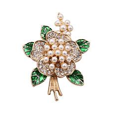 billige Motebrosjer-Dame Nåler Perle imitasjon Diamond Imitert Perle Mote Vintage Bedårende Victoriansk Hvit/Grønn Smykker Bryllup Fest Daglig Avslappet