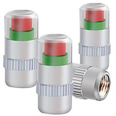 neljä asennettu metallinen korkki rengaspaineiden seuranta rengaspaineet venttiilin suojus