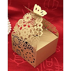 cheap Favor Holders-Cubic Card Paper Pearl Paper Favor Holder With Laces Favor Boxes Gift Boxes-20