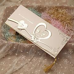 baratos -Tri-Dobrado Convites de casamento-Cartões de convite Estilo Clássico Estilo Coração Tema de Fadas Papel Pérola