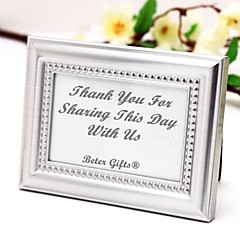 cheap Wedding Gifts-Beter Gifts® Recipient Gifts - 4 x 3 inch, Silver Mini Photo Holder Favor / Escort Place Card Holder Party Décor