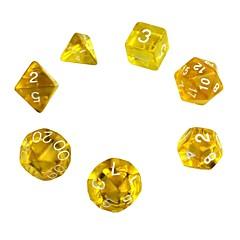 קוביות אקריליק polyhedral מעודנות (7 יח ')