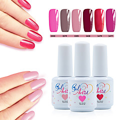 billige Neglelakk og gellakk-Neglelakk UV-Gel 15ml 8picecs/set UV Color Gel UV Top Coat Gel Topplag Underlag Lys Dypp av langvarig UV Color Gel UV Top Coat Gel