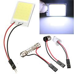 2 stk bil cob 24 chip førte bilen innvendig lys t10 girlander cob 12v panel lys bil parkeringslys (DC12V)