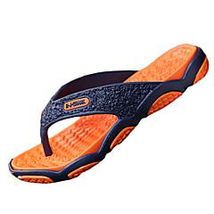 Men's Slippers & Flip-Flops Summer Flip Flops PU Casual Flat Heel  Green / Gray / Black and Red / Orange Water Shoes