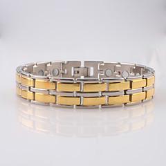 Heren Armbanden met ketting en sluiting ID Armbanden Modieus Synthetische Edelstenen Roestvast staal Sieraden Sieraden Voor Dagelijks