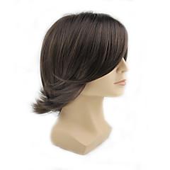 billiga Peruker och hårförlängning-Syntetiska peruker Vågigt Syntetiskt hår Peruk Herr / Dam Utan lock Svart