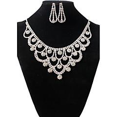 tanie Zestawy biżuterii-Damskie Biżuteria Ustaw - Kryształ górski Vintage, Moda Zawierać Naszyjnik / Kolczyki Biały Na Ślub Impreza / Naszyjniki