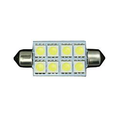 10 x 42 mm-es tiszta, fehér 5050 girland kupola térképen belső LED izzó 211-2 578 569