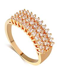 baratos Anéis-Anéis Estilo Casamento Jóias Liga Feminino Anéis Meio Dedo 1pç,8 / 9 / 8½ / 9½ Dourado / Prateado