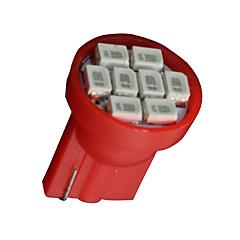 10x piros t10 W5W 2825 158 168 192 921 906 8-SMD LED sebességmérő műszer fény