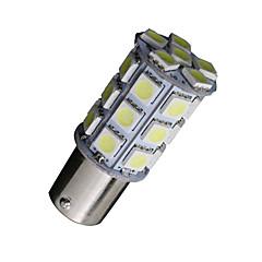 billige Interiørlamper til bil-2x kule hvite 1156 BA15s 27-SMD 5050 LED lyspærer rygge reversere 7506 1141