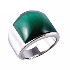 Homens Feminino Maxi anel Moda Vintage bijuterias Aço Titânio Opala Jóias Para Festa Diário Casual