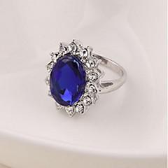 Feminino Maxi anel Moda bijuterias Zircão Liga Jóias Para Casamento Festa Aniversário