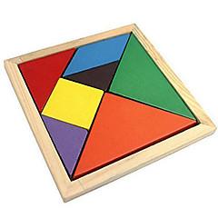 Tangram Holzpuzzle Bildungsspielsachen Spielzeuge Mehrfarbig Klassisch Jungen Mädchen 7 Stücke