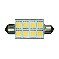 cheap -10X Warm White Festoon 42MM 5050 8-SMD 211-2 578 569 Dome Map Interior LED Light