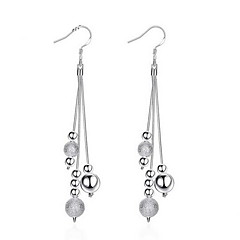 cheap Earrings-Women's Sterling Silver - Personalized / Tassel / Party Silver Line Earrings For Wedding / Party / Daily