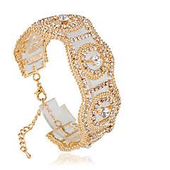 צמידים צמידי טניס סגסוגת Circle Shape אופנתי חתונה תכשיטים מתנות מוזהב / כסף,1pc