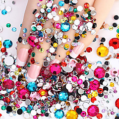 2000pcs Nail Art Decoration tekojalokivi Pearls meikki Kosmeettiset Nail Art Design