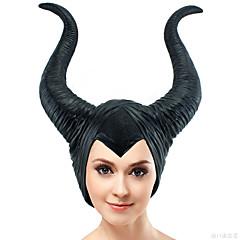 Zauberer/Hexe Kopfbedeckung Haloween Figuren Unisex Halloween Karneval Kindertag Fest/Feiertage Halloween Kostüme Schwarz einfarbig