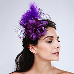 cheap Party Headpieces-Feather Net Fascinators Headpiece Elegant Classical Feminine Style