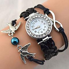 Women's Bracelet Watch Wrist watch Fashion Watch Quartz Rhinestone Imitation Diamond PU Band Sparkle Heart shape Vintage Casual Bohemian