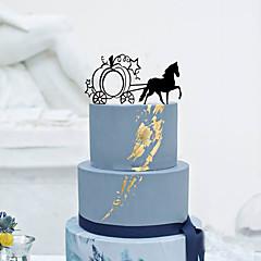 קישוטים לעוגה לא מותאם אישית רכב אקרילי חתונה פרחים שחור נושא קלאסי 1 קופסת מתנה