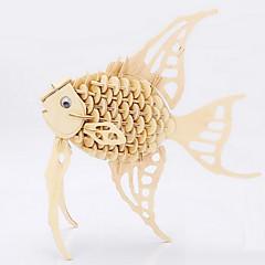 baratos -Quebra-cabeças Quebra-Cabeças 3D Quebra-Cabeças de Madeira Blocos de construção Brinquedos Faça Você Mesmo Peixes Madeira