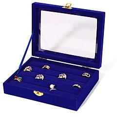 baratos Miçangas & Fabricação de Bijuterias-Quadrada Caixas de Jóias - Fashion Preto, Branco, Azul / Mulheres